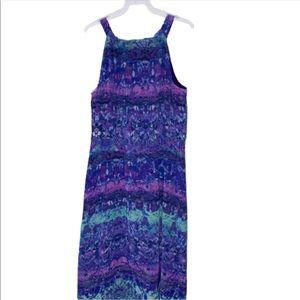 Chico's Dresses - Chico's Purple/Blue Print Hi Low Dress